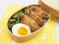蔥煎雞翼+日式竹輪青椒絲便當