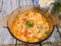 家常料理-番茄豆腐蛋花湯