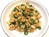 👩🏻🍳秋葵蛋炒飯-顧胃的炒飯😁