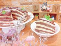 可可雙色千層蛋糕
