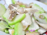 鮑魚菇肉絲炒佛手瓜片