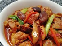 蔥燒香菇雞