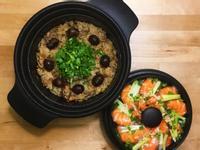 栗子糯米油飯+蔥薑蒸鮮蝦