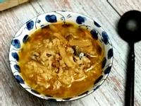 白蘿蔔絲素肉醬鹹粥