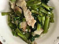家常菜,空心菜炒豬肉