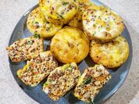 簡易高蛋白點心🐟鹹瑪芬-鮭魚紅藜烘蛋
