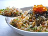 粒粒分明的鮭魚炒飯
