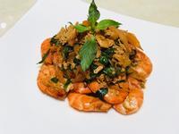 九層塔蛋炒鮮蝦