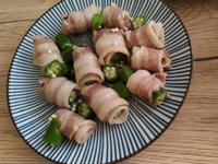 味增秋葵豬肉捲