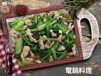 蒜香肉絲油菜
