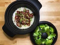 臘肉炊飯+蒸花椰菜