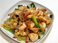 冷凍蝦好方便~簡易懶人蒜香洋蔥炒蝦