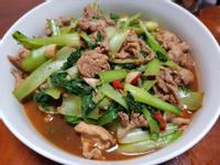 沙茶青江菜炒肉片