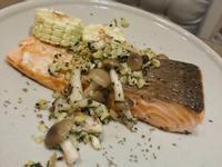 羅勒蒜香奶油鮭魚