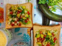 夏日健康酪梨沙拉活力早餐