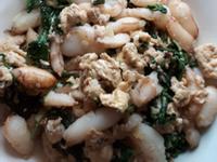 蟹管肉炒九層塔