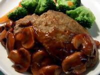 紅酒蘑菇醬日式漢堡排