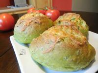 蒜香培根菠菜軟法麵包