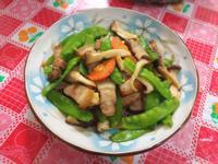 鹹豬肉炒荷蘭豆