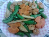 Y芬的小廚房--杏鮑菇甜豆燴蝦仁
