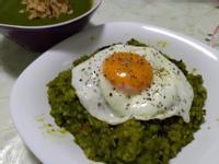 偽青醬南瓜燉飯及太陽蛋做法