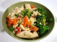 什錦蔬菜燴雞柳