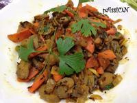 印度料理。Sabji辣味炒拌菜(5人份)