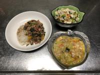 鮮食🐾絞肉燴飯 菱角沙拉 南瓜濃湯