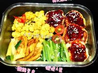韓式雞肉蔬菜馬鈴薯餅便當