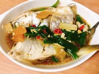 簡易料理:電鍋蒸午仔魚