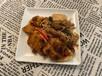 肉醬金針燒豆腐