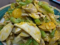 南瓜肉絲燴雙菇