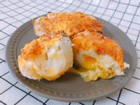 氣炸鍋料理-焗烤洋芋爆漿蛋