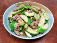 櫛瓜炒肉片