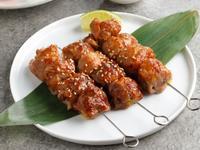 BBQ風味熱帶水果豬肉串