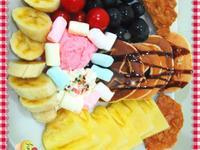 鬆餅水果拼盤