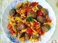 番茄蛋炒牛肉丸~火鍋料做簡易家常菜