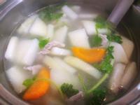 大頭菜肉片湯