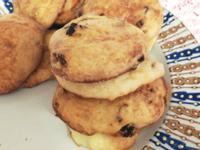 《親子料理》免揉低糖美乃滋葡萄乾司康餅乾