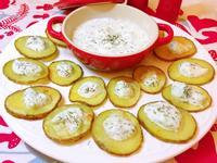 希臘優格黃瓜醬沾烤馬鈴薯(聖誕派對)