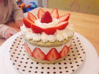 聖誕草莓起士蛋糕(免烤箱)