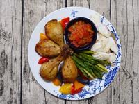 吉慶有餘-小家庭的起家雞腿餐-蒸氣烘烤爐
