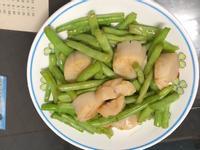 四季豆炒干貝