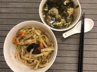 雞肉蔬菜日式炒烏龍麵