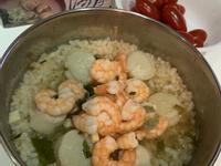 味增黃金蜆精海鮮泡飯電鍋湯包飯湯干貝蝦仁