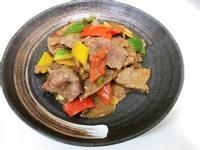 彩椒滑牛肉片