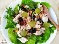 果香嫩雞丁沙拉~含鹽水醃漬法+油醋醬比例