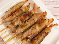 氣炸鍋料理 <豬肉>培根草蝦串