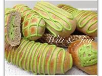[Witi✿Kitchen](麵包機-麵包)紅豆紫米抹茶卡式達麵包