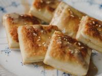 低醣料理 - 日式乾煎板豆腐佐花生芝麻醬